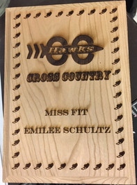 Cross Country Award Plaque