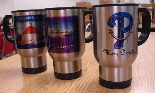 Tumblers - stainless steel with lid - $12.50 each