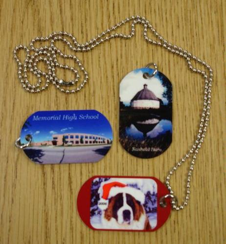 Dog Tags - aluminum - $3 or $4