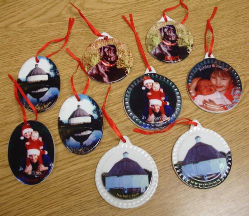 Ornaments - round, oval, or scalloped - $5 each