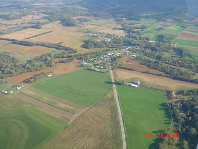 Aerial View into Gilmanton Hwy 88