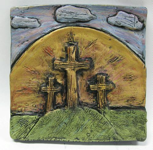 clay relief carving - Patricia R