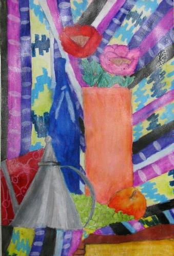 Still Life Watercolor Painting - Heidi E