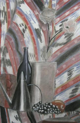 Still Life Charcoal Drawing - Shannon A