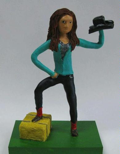 Polymer clay figure - Chelsea P