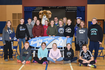Student Council with Scherrer Cares Buddy Bench