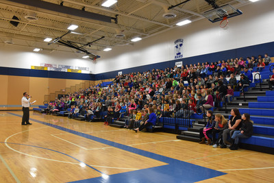 Mr. Alexander speaks to the student body about bullying