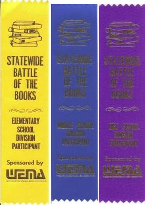 Battle of the Books Ribbons - Elementary (5) - $1.00